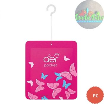 Godrej aer pocket, Bathroom Air Fragrance - Petal Crush.Pink, 1N