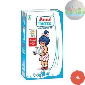 Amul Taaza Homogenised Toned Milk, 1Ltr