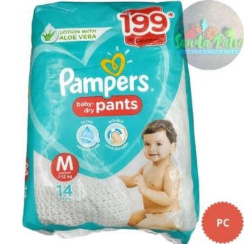 Pampers Pant Style Diapers Medium Size, 14 Pants