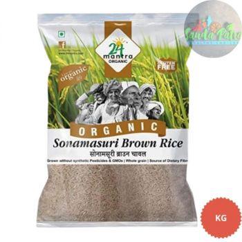 24 Mantra Organic - Sonamasuri Brown Raw Rice, 1 kg