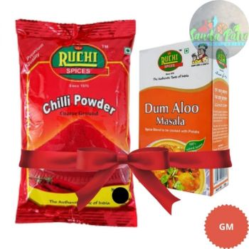 Ruchi Chilli Powder, 250gm With Free DUM ALOO MASALA