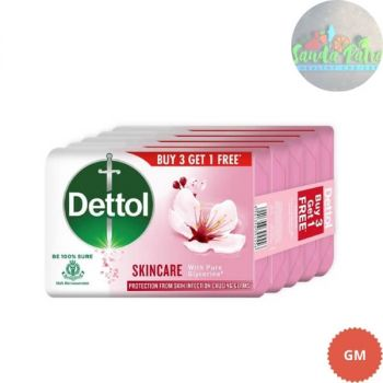 Dettol Skincare Germ Protection Bathing Soap, 75gm, Buy 3 Get 1 Free