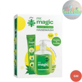 Godrej Protekt Magic Powder To Liquid Handwash,  1 Sachet : 1U of 9gm 1empty bottle