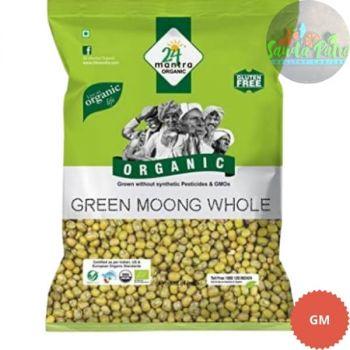 24 Mantra Organic Green Moong Whole, 500 gm