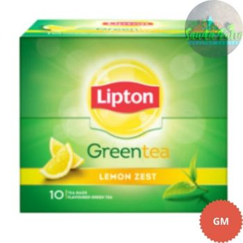 Lipton Lemon Zest Green Tea, 1.3gX10s