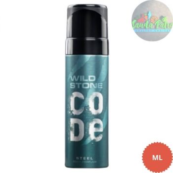 Wild Stone Code Steel Body Perfume Spray for Men, 120ml