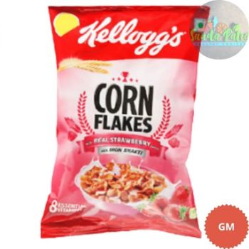Kelloggs Corn Flakes With Real Strawberry Puree, 26gm