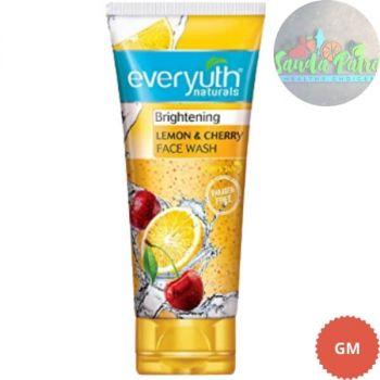 Everyuth Naturals Brightening Lemon & Cherry Face Wash, 50gm