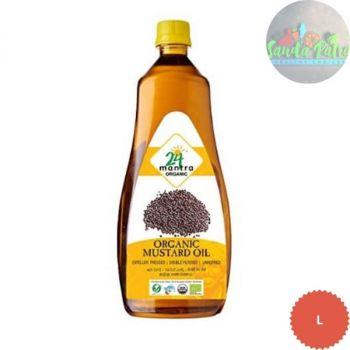 24 Mantra Organic - Cold Pressed Premium Mustard Oil, 1L