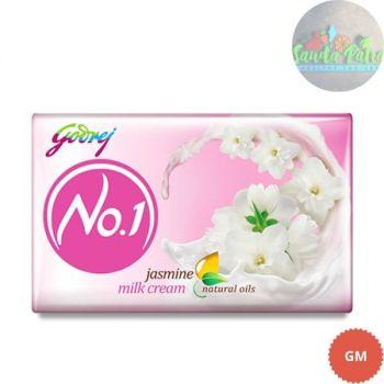 Godrej No.1 Jasmine and Milk Cream Soap Buy 3 Get 1 Free, 45x4 - 180gm