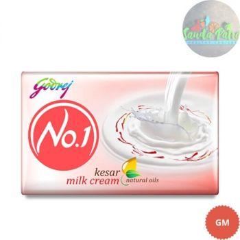 Godrej No.1 Kesar and Milk Cream and Alover Soap Buy 3 Get 1 Free, 45x4 - 180gm