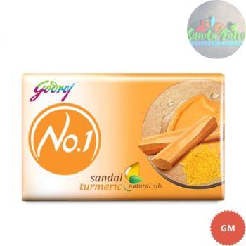Godrej No.1 Sandal and Turmeric Soap Buy 3 Get 1 Free, 45x4 - 180gm