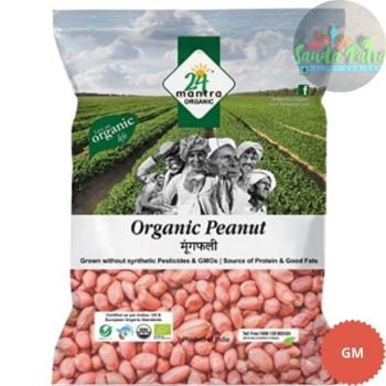 24 Mantra Organic - Whole Peanut, 500 gm