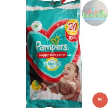 Pampers Happy Skin Pants Small Size, 2 Pants