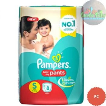 Pampers Pant Style Diapers Small Size, 8 Pants