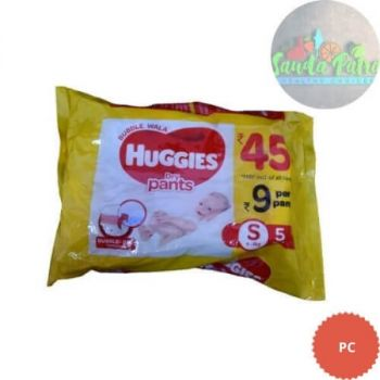 Huggies Dry Pants Bubble Wala, Small Size Diapers, 5 Count