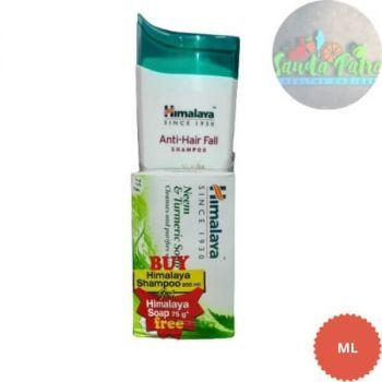 Himalaya Anti - Hair Fall Shampoo, 200ml FREE Himalaya Neem & Turmeric Soap, 75gm