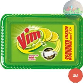 Vim Dishwash Bar Lemon Tub, 250gm (With Free Scrubber Worth - 10)