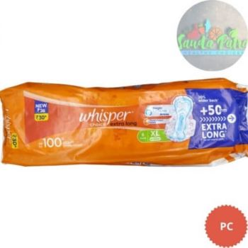 Whisper Choice Extra Long With wings, XL 6 Pads