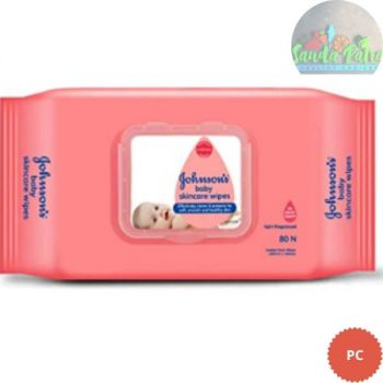 Johnson's Baby Skincare Wipes, 80 Wipes