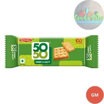 Britannia 50-50 Sweet & Salty Biscuits, 200gm